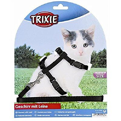 Trixie Harness &Lead Set, Kittens/Small Cats Nylon 19 to 31 cm Long / 8 mm Wide