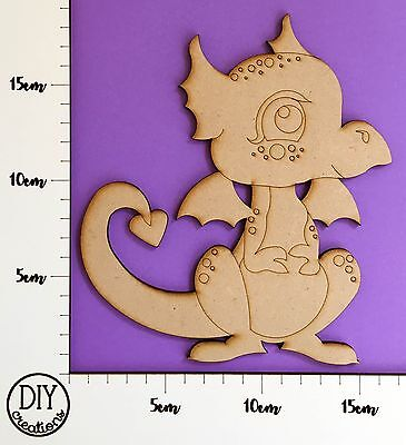 MDF Dragon - Wooden Craft Shape - DIY Decor for Adults and Kids