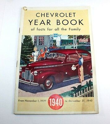 1940 Chevrolet Brochure Year Book Of Facts, excellent condition