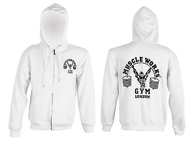 Muscle Works Gym  Hoodie MMA Boxing Gym T Shirt Men Vest Bodybuilding BIG SIZE