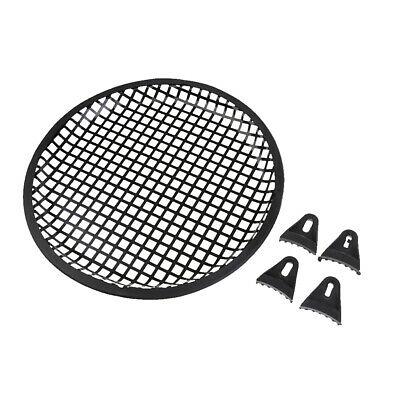 """10"""" inch Metal Speaker Subwoofer Sub Waffle Mesh Grill Cover with Clips"""