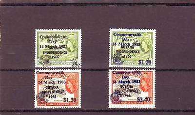 a123 - GUYANA - SG1065-1068 MNH 1983 OVPT COMMONWEALTH DAY