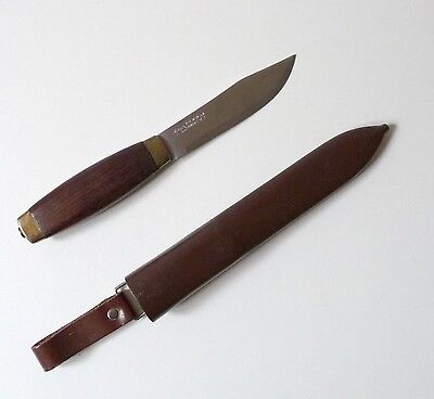 Ancien couteau suédois Frosts MORA 1950 Vintage Swedish knife with case 1950s