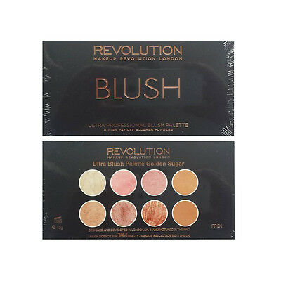 Makeup Revolution Golden Sugar Palette Blush Bronze & Highlighter Free U.K P&P