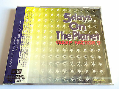 WARP FACTOR 9 5 Days On The Planet JAPAN PROMO CD 1994 w/OBI CULTDEP New Sealed