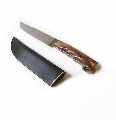 Ancien couteau grec, crétois 1950 Vintage Greek, Cretan knife with case 1950s