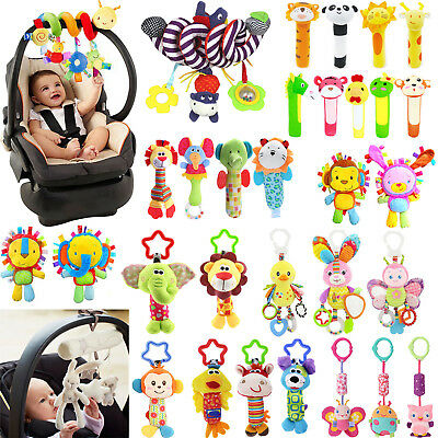 Crib Stroller Baby Cot Buggy Pram Car Seat Revolving Hanging Rattles Dangle Toy
