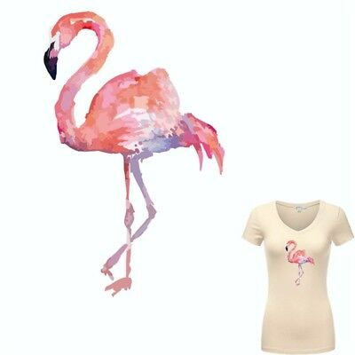 Heat Transfer Flamingo Patch Iron On Patches For Clothes DIY Decoration Printing