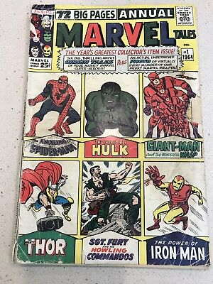 Marvel Tales Annual #1  Silver Age Comic Hulk Spider-Man , Thor , Iron Man
