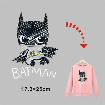 New Heat Transfer Batman Iron On Patches For DIY Cloth Decoration Printings