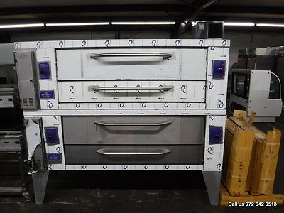 New Bakers Pride Gas Double Deck Pizza Oven With Stones,  Model Y-600