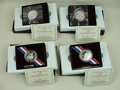 1995 Atlanta Olympic BU & PROOF Half Dollars w/ COA in OGP - Baseball Basketball