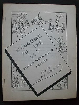 "USAF 58th Weather Recon Sqdn ""Welcome Booklet"" Eielson AFB, Territory AK 1954"