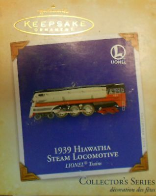 Hallmark QX8454 Lionel 250E 1939 Hiawatha Steam Locomotive Christmas Ornament #9