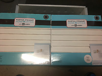 """(2) Wall Manager Accessory Board 12"""" x 12"""" Martha Stewart Home Office Avery 2565"""