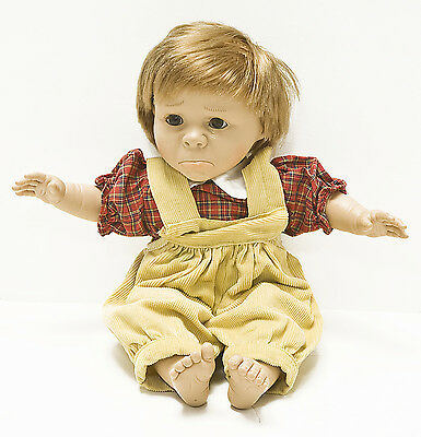 "Vintage 16"" Berenguer Pouty Face Toddler Baby Boy Doll Excellent Condition"