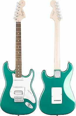 Squier Affinity Series 6 String Stratocaster HSS Electric Guitar, Race Green