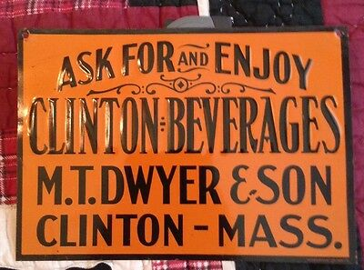 Enjoy Clinton Beverages Sign