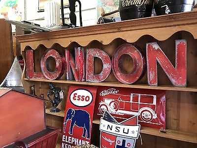 "Nice Quality Metal Letters ""London"" Open To Offers."