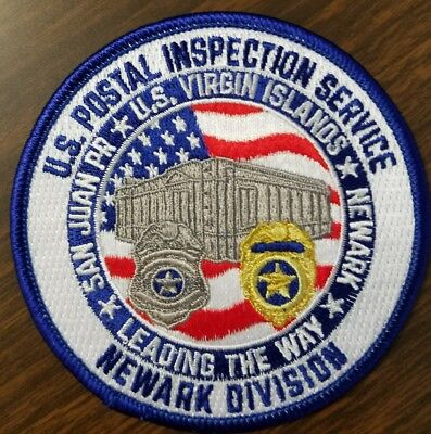 U.s Postal Inspection Service Newark Division Patch Rare New Federal Police