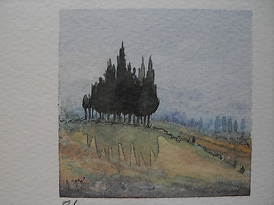 """★ FARB-LITHOGRAPHIE ★ signiert 8/300 """"Toscana"""" OVP! TOP!"""