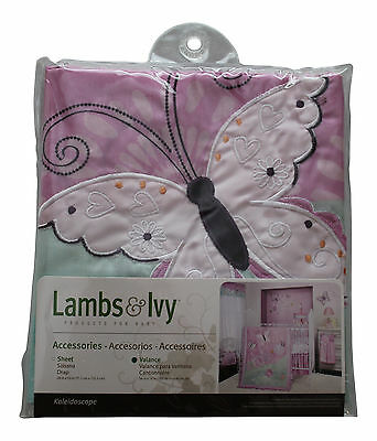 Lambs & Ivy Kaleidoscope Butterfly Themed Valance 54 in x 16 in - NEW!