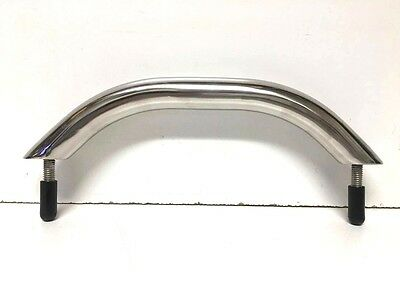 "13-3//8/"" Polished Stainless Steel Boat Grab Rail 316SS w// Studs"