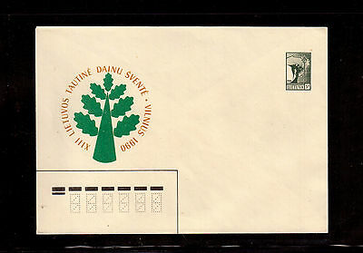Lithuania 1990 Postal Stationary, Re-Establishment Of The Republic Of Lithuania