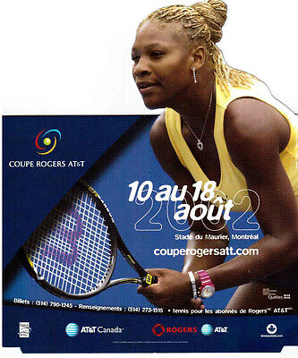 Serena Williams 2002 Tennis Rogers Cup, Pop-Up Advertising Card !!