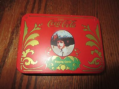 Vintage Coca Cola Card Case Victorian Lady Collectible Playing Cards Case Tin