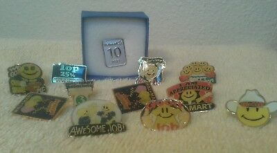 walmart pin lot of 12 10 year smiley birthday top %25 most unworn