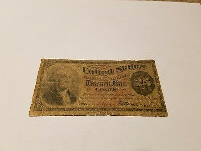 1863 4th Issue Fractional Currency 25 Cents