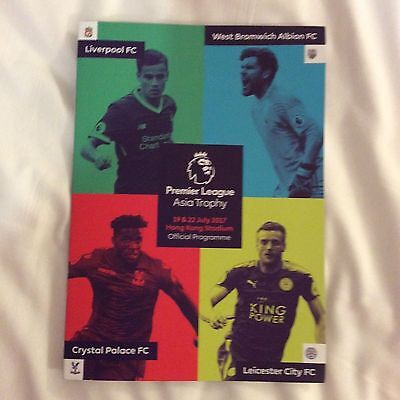 2017.asia trophy. Liverpool-Crystal palace-Leicester-West Bromwich. Mint