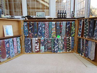 Display cabinet stand selling ties crafts exhibition shopping trade show wood