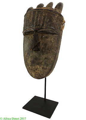 Toma Loma Horned Mask Guinea Africa 21 Inch Custom Stand