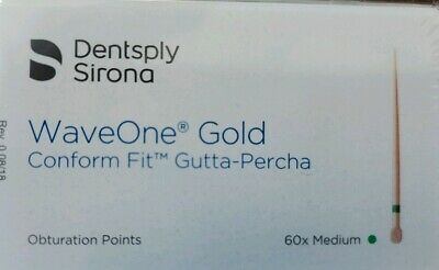 Medium Waveone Gold Wave One Gutta Percha Points Dental Endodontic Root Canal