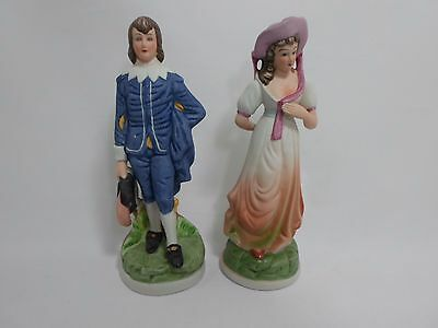 Vintage Pinkie and Blue Boy Statues by Flambo Japan Fine Porcelain