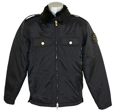 INDEPENDENT Jacket Chris Haslam Strike Sheriff / Skateboard Coat - Black- Medium
