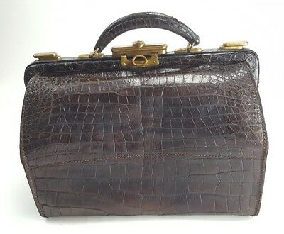 Henry Likly & Co. Rochester NY Early 1900's Leather Travel Bag Doctor Case