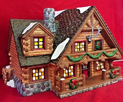 Hunting Lodge Dept 56 Snow Village 54453 Christmas City retired heritage cabin