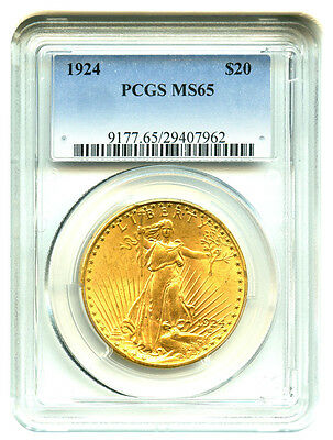 $20 Saint-Gaudens PCGS MS65 pre-1933 US Double Eagle - FREE shipping