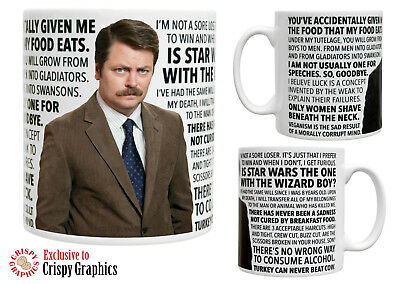 RON SWANSON QUOTES MUG - Parks and Recreation Tribute