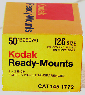 box of 40 Kodak Ready-Mounts for Slides made w/ 126Film