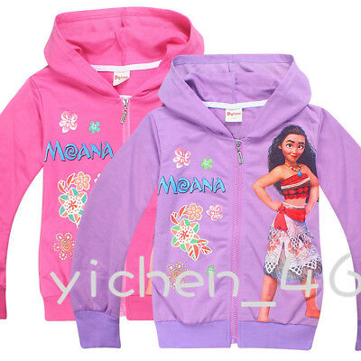 Moana Children Clothing Kid Sweater Jacket Girl Jacket Long sleeves Coat