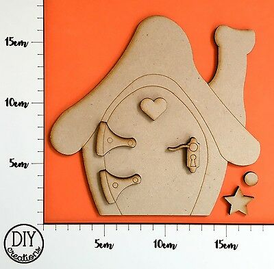 MDF Fairy House KIT - Wooden Craft Shapes - DIY Decor for Adults and Kids
