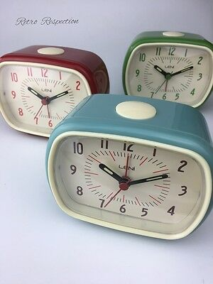 RETRO Style Leni Alarm Clock - Green Red or Blue