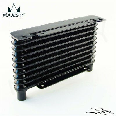 8-AN 32MM 10 ROW ENGINE/TRANSMISSION RACING COATED ALUMINUM OIL COOLER Black