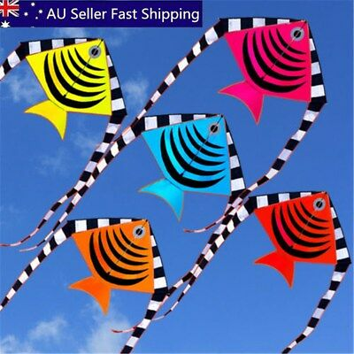 Swim Fish Flying Kite Outdoor Sport Tail Toy Children Kid Fun Activity With Line