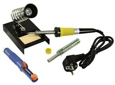 Soldering Set Set with 30W Soldering Iron Solder Desoldering Pump and Stand