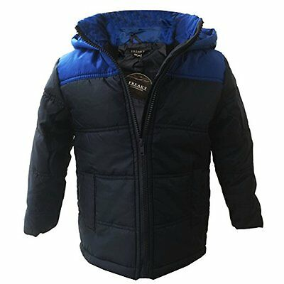 Boys Padded Jacket Kids Outerwear Hooded Coat Back to School Jackets 3-10 Years